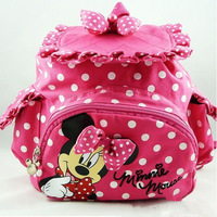 Free Shipping kids backpack,kids bag,minnie mouse kintergarden children bag Cartoons fabric bag girls' backpack Wholesale