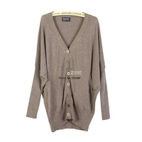 New Women Loose Batwing-sleeved Knit Cardigan Jumper Sweater Outwear 5 Colors 16276