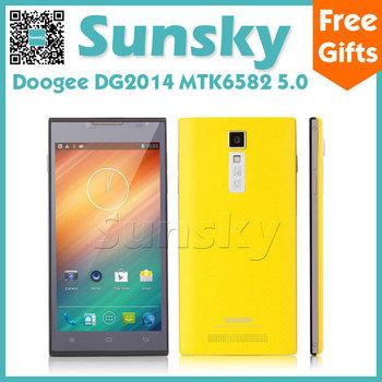 Google play Doogee DG2014 5.0 inch MTK6582 Quad Core Smartphone 1GB /8GB 8.0MP Camera 3G GPS free 8GB card and  CASE