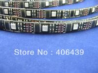 digital WS2801 32leds/m led strips 5m/reel,WS2801 IC(256 scale,8 bit),32pcs 5050 RGB leds/m,waterproof IP65,DC5V input,Black PCB