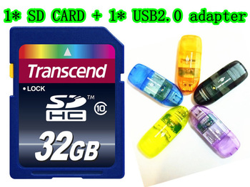 128MB 8GB 16GB 32GB 64GB SD CARD HC Transflash SD CARD SDHC Flash Memory Card +Reader+Retail box Freeshipping