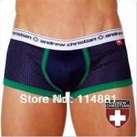 Free Shipping! Wholesale Famous Brand Sexy Gauze AC Men's Boxer Shorts/Men's trunks/Men's Underwear Mix Order AC314 10pcs/lot