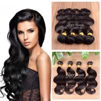 "6A Brazilian Body Wave 3ps/lot 8""-30"" Unprocessed Virgin Brazilian Hair Hot sale Human Hair Extension Brazilian Virgin Hair"