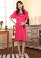 Новая женщина материнства Одежда носить длинные платья Одежда для беременных женщин натурального хлопка весной и летом свободный размер