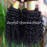 Free Shipping!  Wet and wave virgin cambodian hair tight afor kinky curly no tangle no shedding 2 bundles lot mini curl
