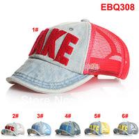 Retail 2014 Denim Take Children's Baseball Caps Boys Girls Kids Spring Summer Mesh Sun Hats Outdoor Caps Free Shipping