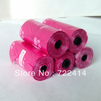 Free shipping+new 2014 Black Pet Dog Biodegradable Waste Garbage bag+50 rolls(15pcs/roll) one set,22*31cm,different colour