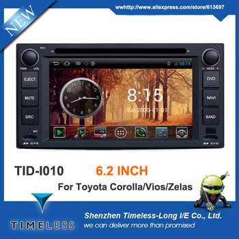 Android 4.0 OS Car DVD For Toyota Corolla Hilux Matrix Previa Vios Zelas Prado FJ Cruiser With GPS Navigation A8 Chipset 3G Wifi