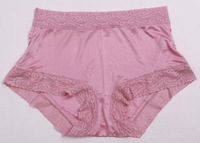 Free shipping! Mulberry silk seamless female silk panties high waist silk boyleg 3
