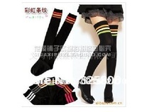 Over The Knee Socks Thigh High Cotton socks 7 Colors Red, White, Purple, Blue,Gray,Orange,Green for Choose free shipping