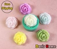 Free shipping rose (big size) silicon cake decorating fondant gum paste mold tool