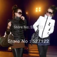 Down Parkas 2014 New Plus size Women Turtleneck Short Design Under Thin Cotton-padded jacket Winter Duck down  jacket