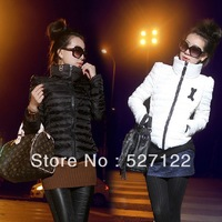 Free shipping! plus size women turtleneck short design under thin thin cotton-padded jacket winter jacket 2013 new short jacket