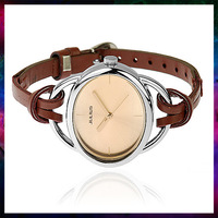 QJ-2013 fashion women dress quartz watch leather strap red coffee golden white watches women fashion free shipping