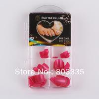 Free shipping Fashion Toe Nail tips colorful with 120pcs/bag