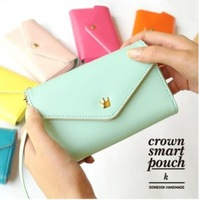 Free Shipping For Phone/Galaxy S/Smart Phone Case Card Coin Wallet Crown Smart Purse [BGB20003]