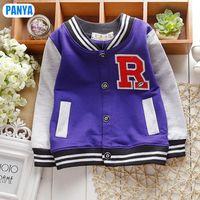4pcs/lot 2015 spring autumn boy baseball jacket kids jacket for boy baby outerware 1-3 years baby clothes wholesale PANYA QDC41
