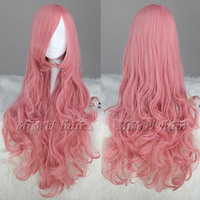 [Missuhair] Cheap 75cm Long Vocaloid-Luka Pink Curly Anime Wig Party Cosplay costume wig Free Shipping