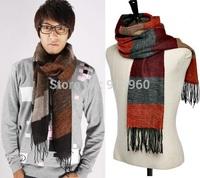 fashion winter striped pashmina shawls mens scarves wrap,casual warm knit cashmere bufandas men business scarf autumn echarpe