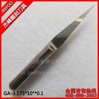 3.175*10Degree*0.1 Jeefoo Flat Bottom CNC Router Tools/V Shape Engraving Bit/ Cutting Bits/Carving Tools