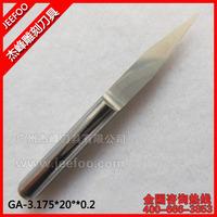 3.175*20Degree*0.2 Jeefoo Flat Bottom Engraving Bits/ Cutting Bits/Carving Tools/V Sharp Engraving Bit