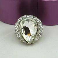 Trendy Wedding Artificial Adjustable Finger Costume Fashion Vintage Elastic Ring