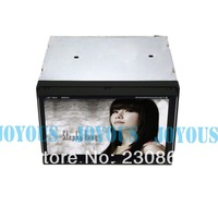 car audio 2din Slide down panel car pc with Analog TV  RDS GPS DVD MP3 MP4 Video resolution up to 1080P