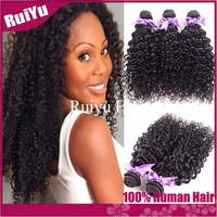 "rosa hair products mongolian kinky curly hair 3pcs/4pcs lot mongolian virgin hair weaves 8""-30""  human hair rextension"