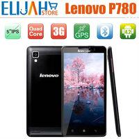 "100% New Original  5"" Lenovo P780 Quad Core Android 4.2 IPS Bluetooth 3G Cell Phones Multi-Languages Mobile Free case&Protector"