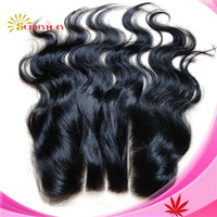 Brazilian Hair  Body Wave Three Part Closure  6A Grade Black 3 Way 5*5 With Baby Hair Bleached Knots Lace Closure Stock Product