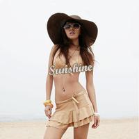 Wide Large Brim Summer Beach Sun Straw Beach Derby Hat Cap 3171