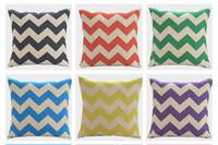45*45 CM Home Decorative Colorful Chevron Zig Zag Wave Cotton Linen Cushion Cover Pillow Case for Bed Sofa,3 pcs/lot