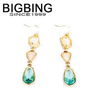BigBing Fashion fashion jewelry small fresh sweet crystal earrings  Free shipping N633