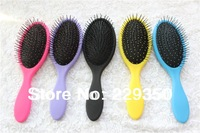 free shipping 5pcs/lot  Luxor Professional  hot sales no tangle detangling hair brush with handle comb
