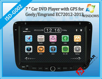 Two Din 7 Inch Car DVD Player For Geely/Emgrand/EC7 2012 2013 With 3G Host GPS Navigation Bluetooth IPOD TV Radio V-CDC Free Map