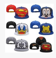 1pc/lot 2014 Hot Sale Unisex mickey Donald Duck  BBOY Snapback Hip Hop Cap Baseball Skateboard Hat BQ8568