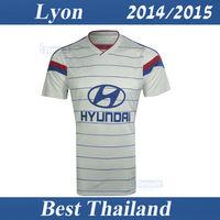 Lyon 2014 2015 Olympique Lyonnais OL Best Thai Quality Lacazette Home Soccer Jersey Shirt Football Soccer Uniform