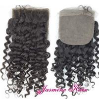Quality guarantee virgin mongolian human hair silk base closure for black women with baby hair,kinky curly hair Free shipping