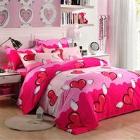 Free shipping  Clearance sales Textile piece set bed sheets duvet cover cotton  princess 4pcs bedding set  XY