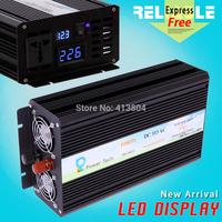 LED Display 1000W Off Grid Pure Sine Wave Inverter DC12V or 24V or 48V input, 120V,220V, 230VAC high quality power inverter