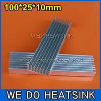 FREE Shipping 10pcs 100x25x10mm DIY LED Power Heatsink Aluminum