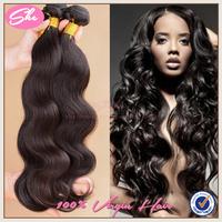 "She hair brazilian virgin hair body wave 4pcs/lot,6A brazilian hair weaves natural black hair 8""-30"",soft human hair extension"