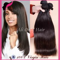 "Brazilian Virgin Hair Straight Weave 3Bundles Lot,Cheap Brazilian Hair Natural Black Hair 8""-30"",100%No Mix Human Hair Extension"