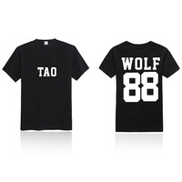 KPOP EXO XOXO 88 WOLF T-shirt New Fashion Special  Peripheral T-shirt  Wholesale TXU209