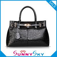 Free Shipping Women's Handbags Croco Painted Genuine Leather bag 2013 New Fashion Lady's Handbag Wedding Bag Export high quality
