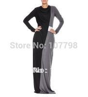 BLACK COWL NECK ABAYA fully lined  muslim dress,dubai abaya,jilbab,islamic clothing,full length evening abaya,  TWO COLOR