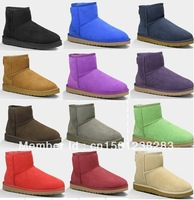 Free Shipping Womens Australia Snow Boots Classic Mini Boots 5854 100% Real Twinface Sheepskin, U Brand Winter Boots Size US5-10