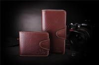 Real Genuine Leather hand Bag Wallet Purse Clutch Card men man Money Pocket 3 folds