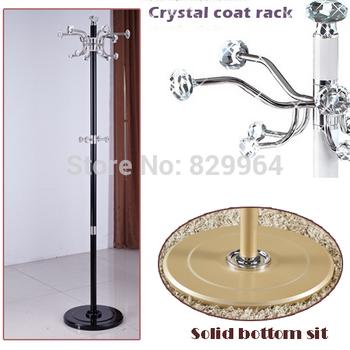 100% crystal coat racks shining crystal hanger with Multi hooks,hook rotation,Stainless steel clothes rack living room furniture