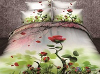 Wholesale of 100% cotton bedding set lovely duvet cover hot flat sheet pillowcase /bedclothes/bed linen/quilt cover suite